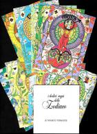[MD0644] POCHETTE SERIE COMPLETA 12 TAVOLE A COLORI - I 12 SEGNI DELLO ZODIACO - CINZIA GHIGLIONE - Astrology