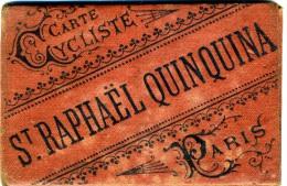 CARTE CYCLISTE PUBLICITE SAINT RAPHAEL QUINQUINA  REGION PARISIENNE COMPLET  PARFAIT ETAT VOIR LES SCANS - Europe