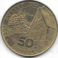 50 PATARS 1331-1981  DURBUY - Gemeentepenningen