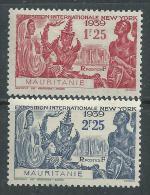 Mauritanie N° 98 / 99 X  Exposition Internationale De New York. Les 2 Valeurs Trace De  Charnière Sinon TB - Ungebraucht