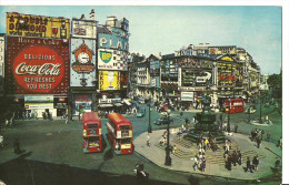Regno Unito (Inghilterra, Great Britain) London, Piccadilly Circus, Bus And Cars - Piccadilly Circus