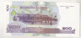 Cambogia 100 Riels 2001 Unc , Pick 53 - Billets