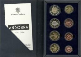 EUROPA ANDORRA  SERIES MONEDAS  2014-PROOF EN UN ESTUCHE ESPECIAL. EMISIÓN 3.000 SERIES EN ESTUCHE. - Andorra
