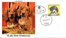 AUTRICHE. N°1043 De 1966 Sur Enveloppe 1er Jour. Chien. - Hunde