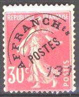 France 1925 - Y & T - Oblitéré - N° Préo 59 : Semeuse 30c Rose - Préoblitérés