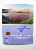 Phone Card From Mongolia Chip Landscape Mountains 150un. - Mongolië