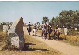 25566 Carnac France 56 Promenade Equestre Parmi Megalithes -D752 Ed De Bretagne -cheval Menhir - Hippisme