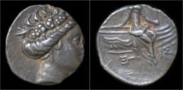Euboia Histaia AR Tetrobol - Griechische Münzen