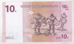 Congo , Democratic Republic ,10 Centimes 1997 Unc - República Democrática Del Congo & Zaire