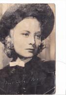 """25570 Michele Morgan Loi Du Nord -carte Dedicace Et Texte La Tante -1940 -film Untel Pere Fils """" !état! Actrice"""