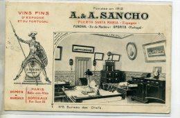 ESPAGNE EL PUERTO DE SANTA MARIA Vins Fins A-A SANCHO  D'espagne Et Portugal  Num8 Bureau Des Chefs  /D06-2016 - Unclassified