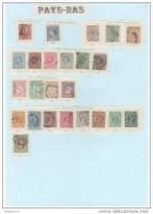 Pays Bas, Lot,2,7,13,15,17,19,20,21 ,22,24,26,30,31,32,33,34, 35,36,37,38,39,40,41,44,s Ur Charnière - Period 1852-1890 (Willem III)