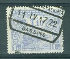 "BELGIE - OBP  TR Nr 116 - Cachet  ""OOSTENDE - DOKKEN Nr 4 - BASSINS"" - (ref. AD-2622) - Spoorwegen"