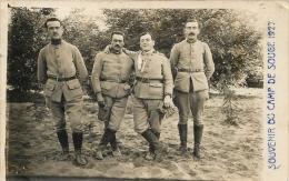 CARTE PHOTO CAMP DE SOUGE 1927 - France