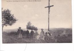25572 La Pierre Druidique De Courtine Du MAYET-de-MONTAGNE -ed Laclau -attelage Paysans Croix Boeuf