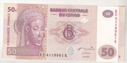 Congo , Democratic Republic , 50 Francs 2007 Unc - República Democrática Del Congo & Zaire