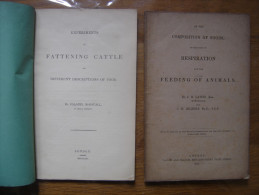 1853 FOODS RESPIRATION FEEDING OF ANIMALS EXPERIMENTS FATTENING CATTLE A Voir - Livres, BD, Revues