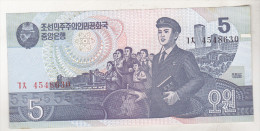 Korea , North , 5 Won 1998 - Corée Du Nord