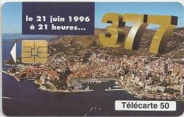 Monaco - Monaco Telecom - 377 - 06-1996, 52.000ex, Used - Monaco