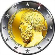 GRECIA  2 Euro 2013 ANN. ACCADEMIA ATENE - PLATONE FDC - Grecia
