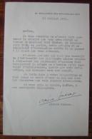 Lettre De Pierre Gascar , Prix Goncourt En 1953, Avec Signature Manuscrite à Propos Des événements En Algérie (1955) - Autographes