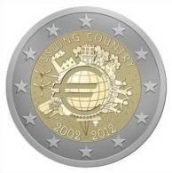 "CIPRO CHIPRE  Moneta Da 2 Euro 2012 ""10 ANNIVERSARIO EURO"" FDC - Cipro"