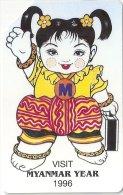 Myanmar (Burma) - MPT - Myanmar Year 1996 - Urmet - 1996, 340.000ex, Used