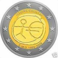 CIPRO 2 Euro 2009 10° ANNIV. Dell´ UNIONE ECONOMICA E MONETARIA - E.M.U. FDC - Cyprus