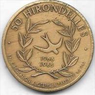 50 HIRONDELLES 1963-1983  OTEPPE - Jetons De Communes