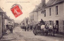 Chevregny : Vue De La Grande Rue - France