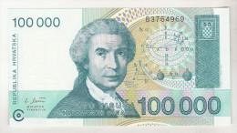Croatia 100000 Dinars 1993 Unc - Croatie