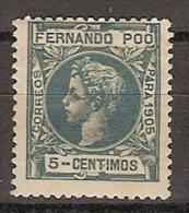 Fernando Poo 140 (*) Alfonso XIII. 1905. Sin Goma. - Fernando Po