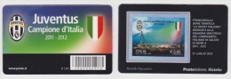 2012 - ITALIA -  TESSERA FILATELICA  LO SPORT ITALIANO SQUADRA VINCITRICE CAMPIONATO DI CALCIO SERIE A JUVENTUS - Tessere Filateliche