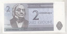 Estonia 2 Krooni 1992 Unc , Pick 70 - Estonia