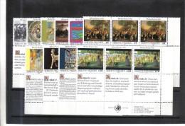 FDD666 UNO WIEN 1989/93  MICHL 96/97+108/09+123/24+139/40+150/51 SECHSERBLÖCKE ** Postfrisch - Wien - Internationales Zentrum