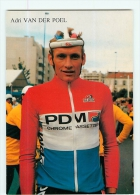 Adri VAN DER POEL , Critérium Des As 1987. 2 Scans. Cyclisme. PDM - Cycling