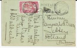 SOMALIS - 1920 - CARTE De DJIBOUTI Pour La HOLLANDE - DESTINATION INTERESSANTE - Lettres & Documents
