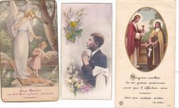 25577- Lot Cinq 5 Images Pieuses Eglise Rennes 35 Bretagne France Sacrés Coeurs -Jouan Bellay Masson - Images Religieuses