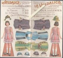 Découpage Ancien - Publicité Veldalice Poux Lentes - Pharmacien Oudet Dole - Habillement Poupée - Oude Documenten