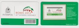 2012 - ITALIA -  TESSERA FILATELICA  81° ASSEMBLEA GENERALE DELL´ INTERPOL - 6. 1946-.. Republic