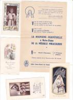 25578- Lot 20 Vingt Images Pieuses - Rennes 35 Bretagne France Eglise Sainte Therese + Bon Chaise Tract