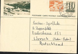 Carte Illustré (Zumstein 2009) N° 182-0136  FTAN Im Winter  Obl: Basel 09/02/1955 - Entiers Postaux