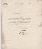 Toulouse,1851,mairie, Billets Invitation , Distribution De Prix, Ecoles Des Arts,sciences Musique,Sourds-muets - Toegangskaarten