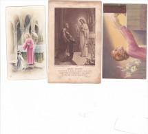 25579- Lot 3 Trois Images Pieuses - Rennes 35 Bretagne France Eglise Notre Dame-pensionnat Saint Etienne - Images Religieuses