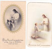 25581- Lot 2 Deux  Images Pieuses - Pont Rean 35 Bretagne France - Eugene Leclanche 1938 - Images Religieuses