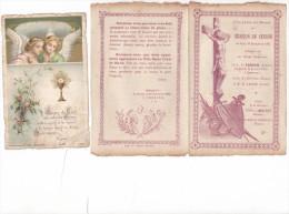 25582- Lot 2 Deux  Images Pieuses - Cesson Sevigné 35 Bretagne France - Croyal 1916 - Mission 1920 (en Double)