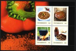 ÖSTERREICH 2014 ** Gulasch Aus Österreich - Block 1, PM Personalized Stamps MNH - Ernährung