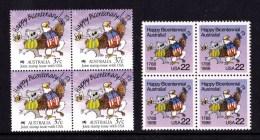 Australia 1988 Happy Bicentenary  - Joint Issue USA Blocks Of 4 MNH - 1980-89 Elizabeth II