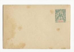 OBOCK - 1892 - ENVELOPPE ENTIER POSTAL De OBOCK - Obock (1892-1899)