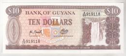 Guyana 10 Dollars 1966-1992 Unc , KM 23f - Guyana
